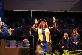 Summer Commencement Stage Phi Alpha Photo by: Randy Gentry