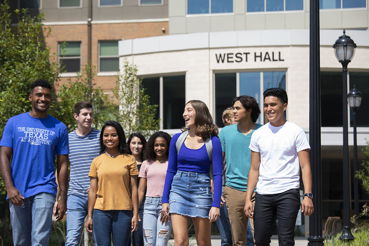 students living at west hall on uta campus