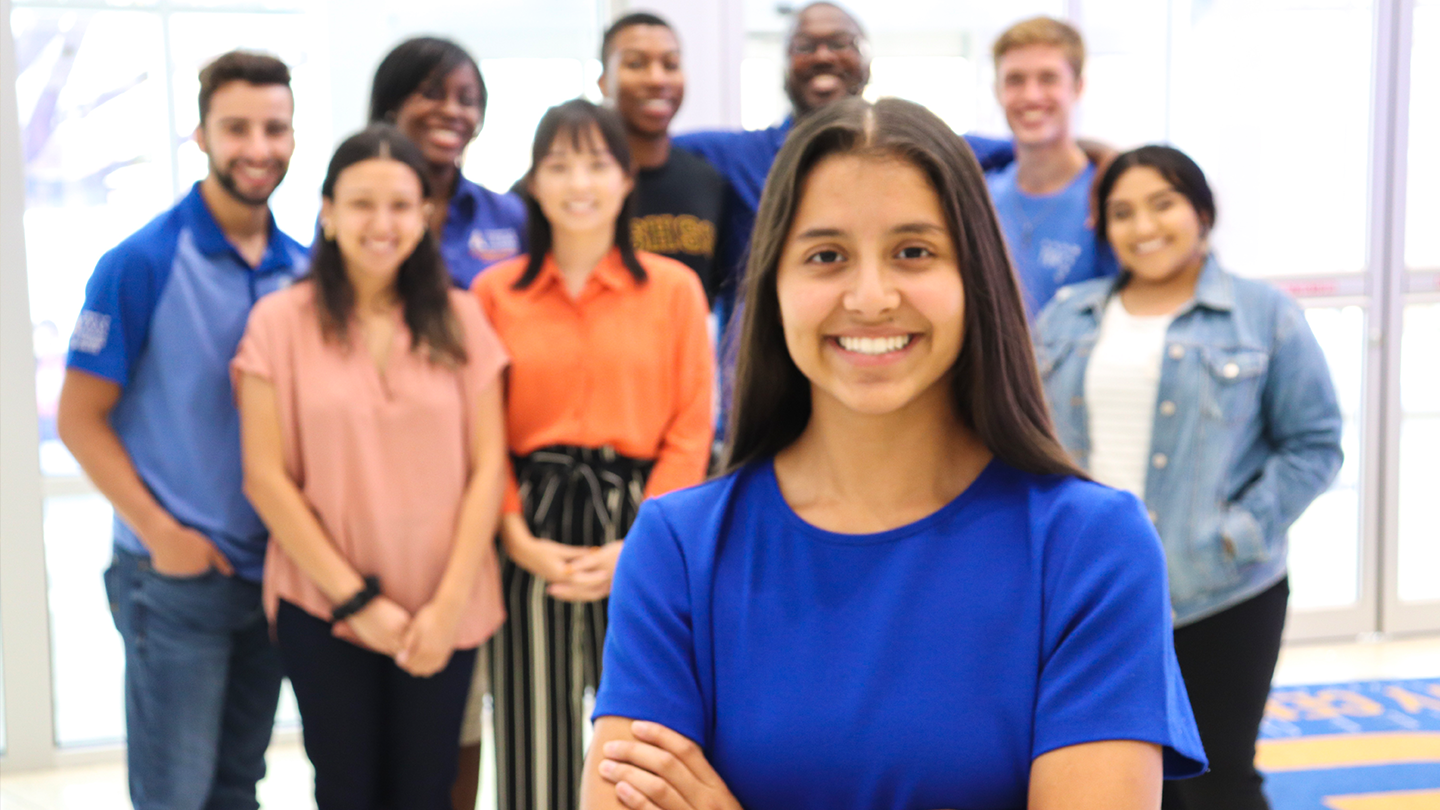 Students in leadership positions at the University of Texas at Arlington