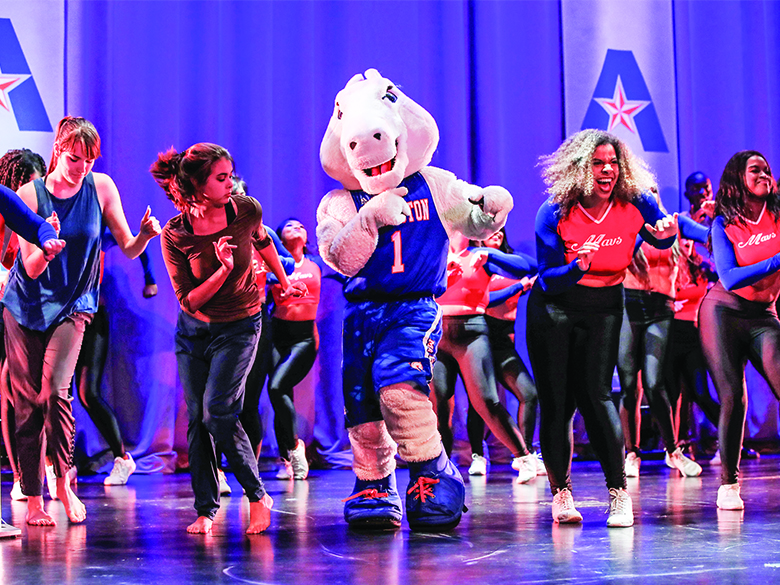 Dancing Students on Stage with Blaze