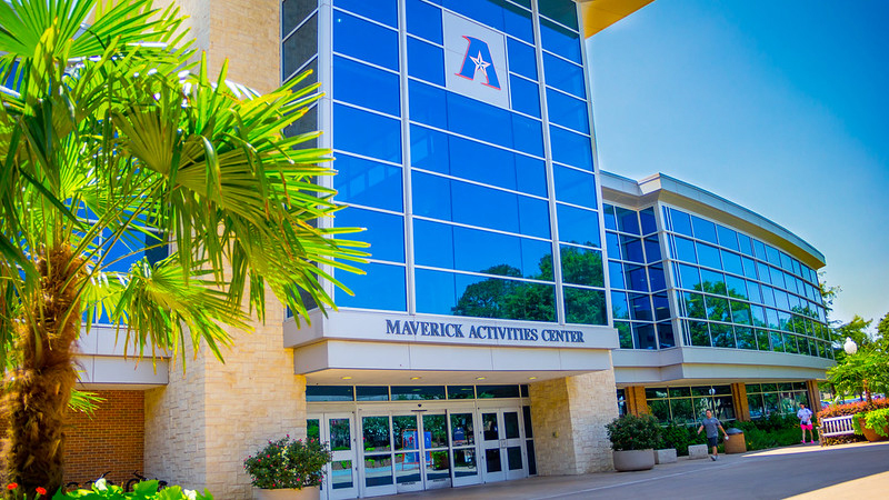 The front of the Maverick Activities Center