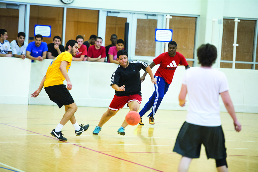 Student breaking ankles during an intramural basketball game