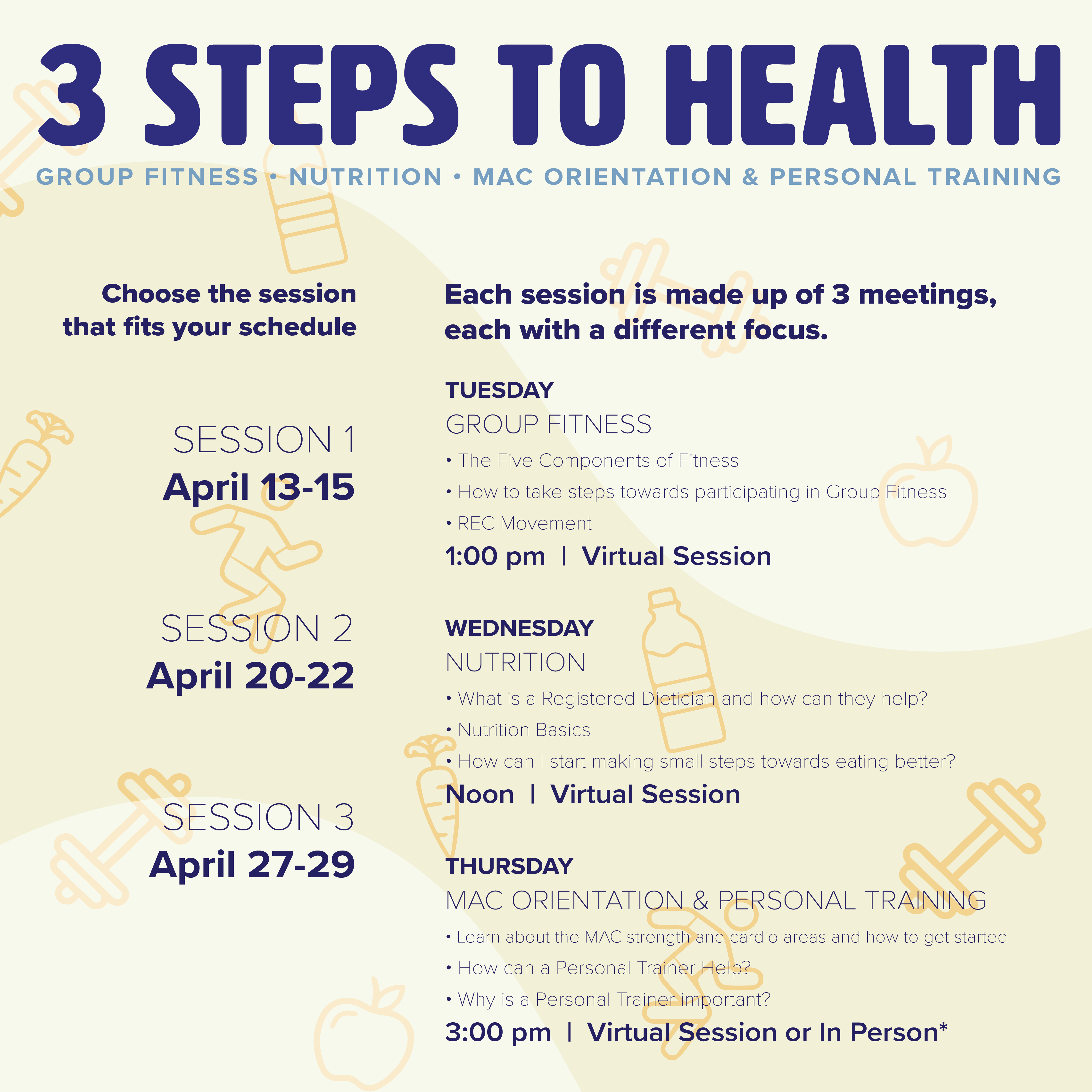 Flyer for Three Steps to Health