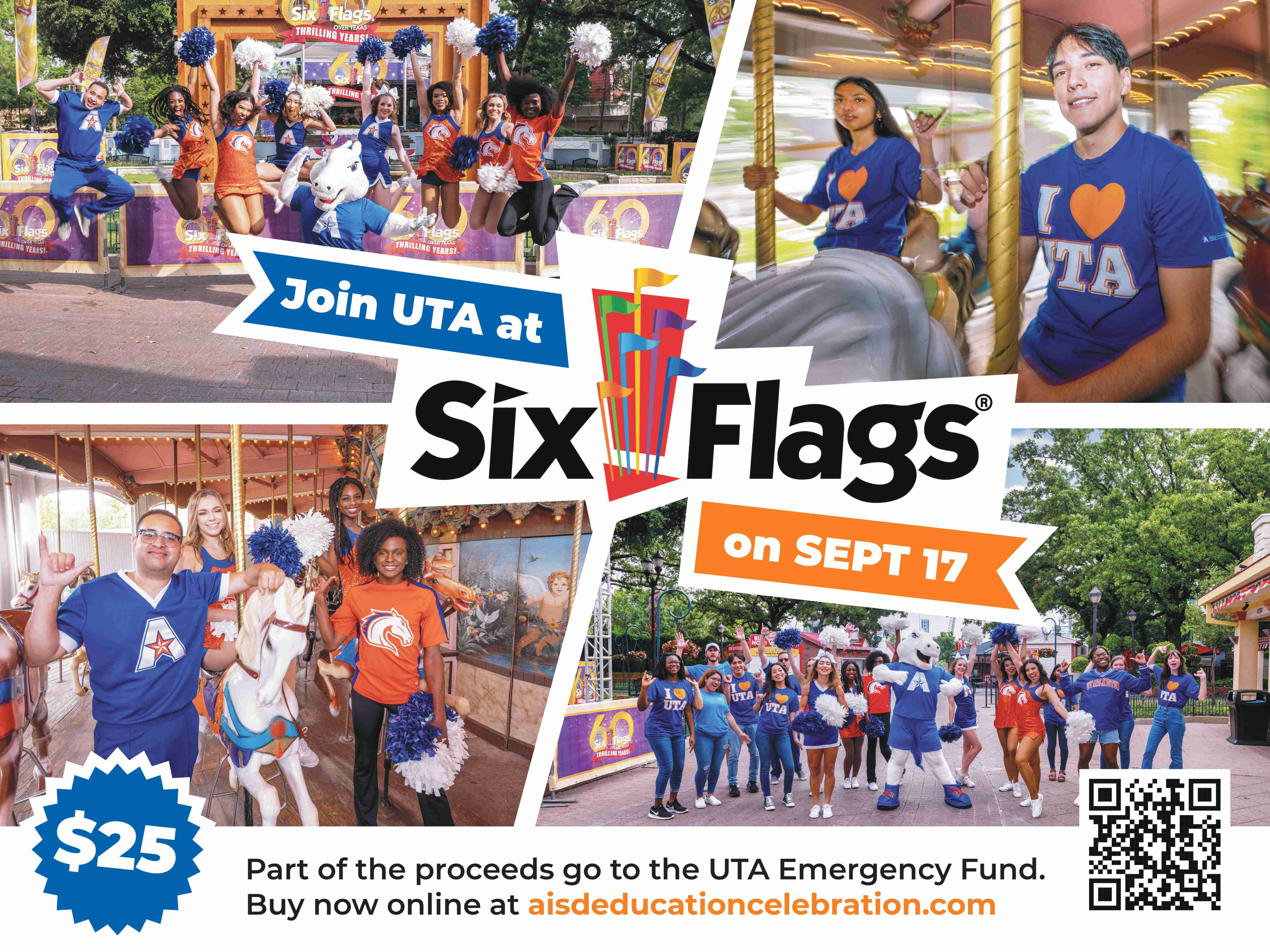 Join U T A at Six Flags on September 17th.