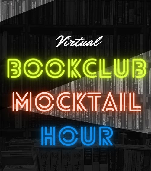 Poster for 'Virtual Bookclub Mocktail Hour