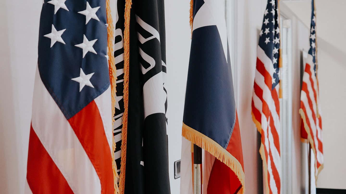 United States, Texas, Army flags