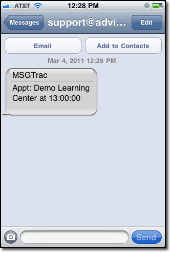 Tutor Trac Appointment Reminder