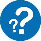 This icon shows two question marks, one in the foreground and one in the background.