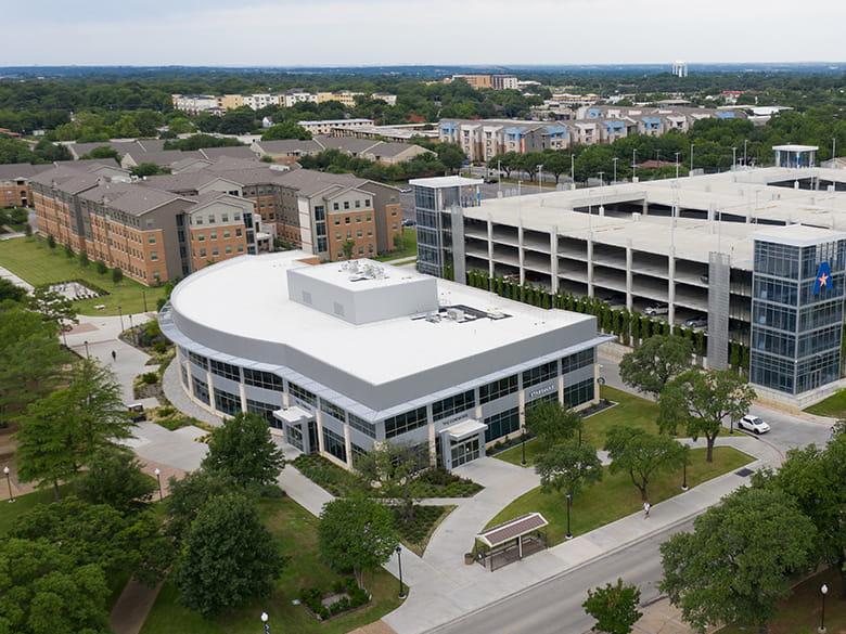 Aerial view of UTA's west campus